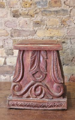 Pair of Sheesham Wood Pillar Bases